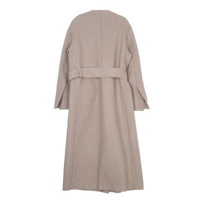belt gown coat beige